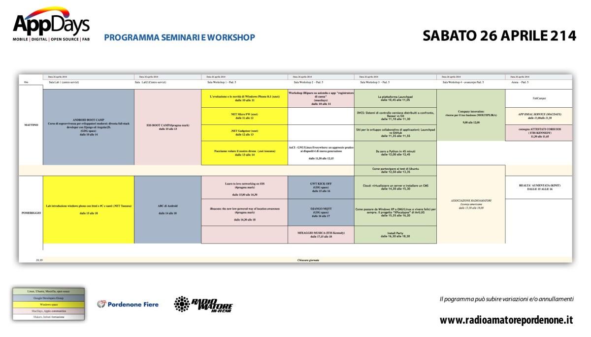ProgrammaAppDaysSabato26Aprile2014 1200x685 Calendario, programma e orari workshop AppDays 2014