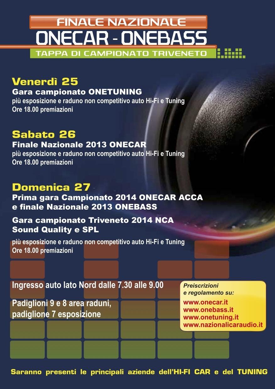 one car one bass 03 Attività Hi Fi Car Tuning alla Fiera del Radioamatore 2014