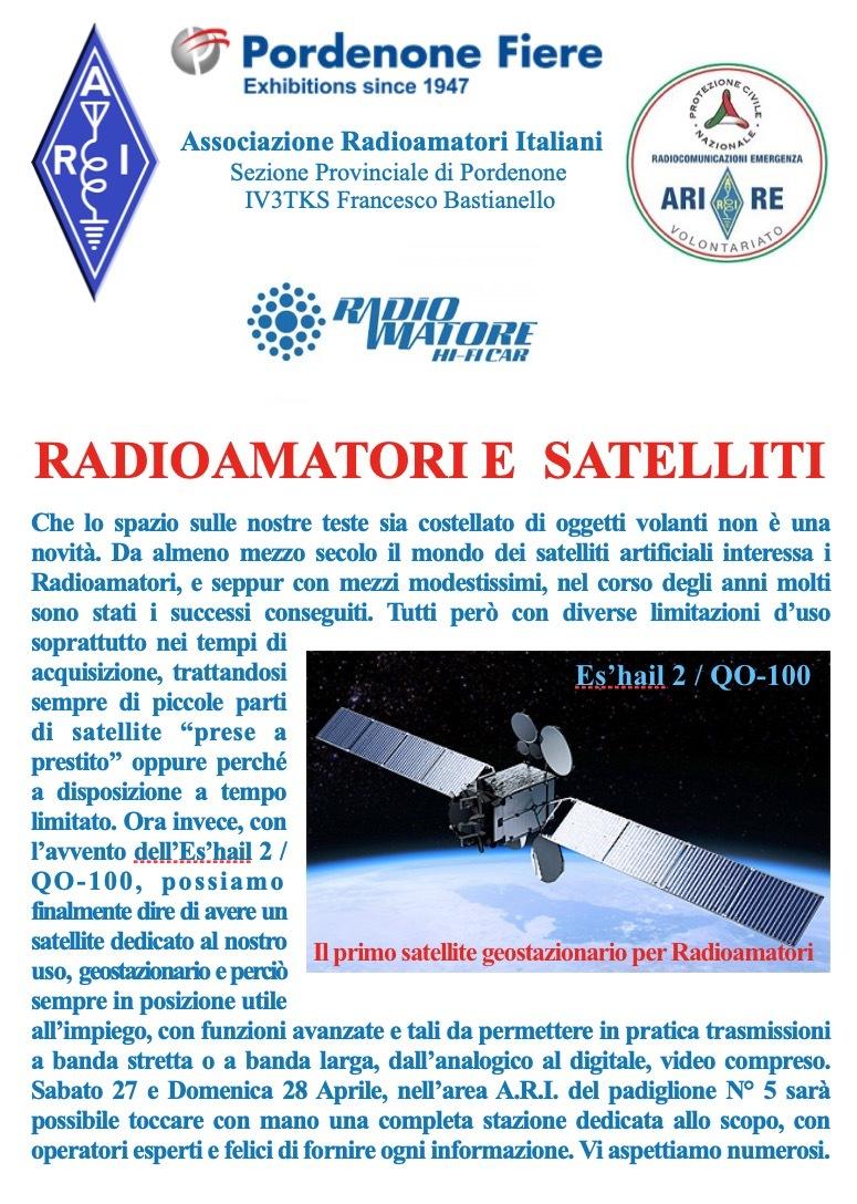 QO 100 Iniziative ARI e Radioamatori in fiera