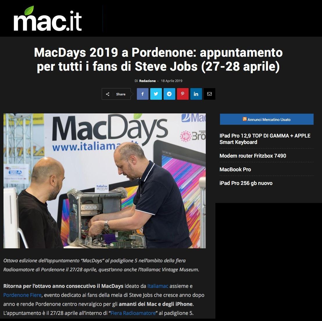 mac it 15042019 Rassegna Stampa Radioamatore Fiera 2019
