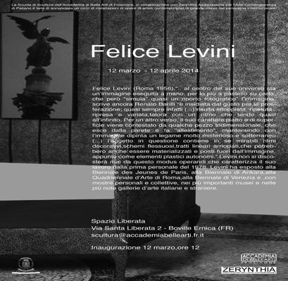 Invitation to Felice Levini, Boville