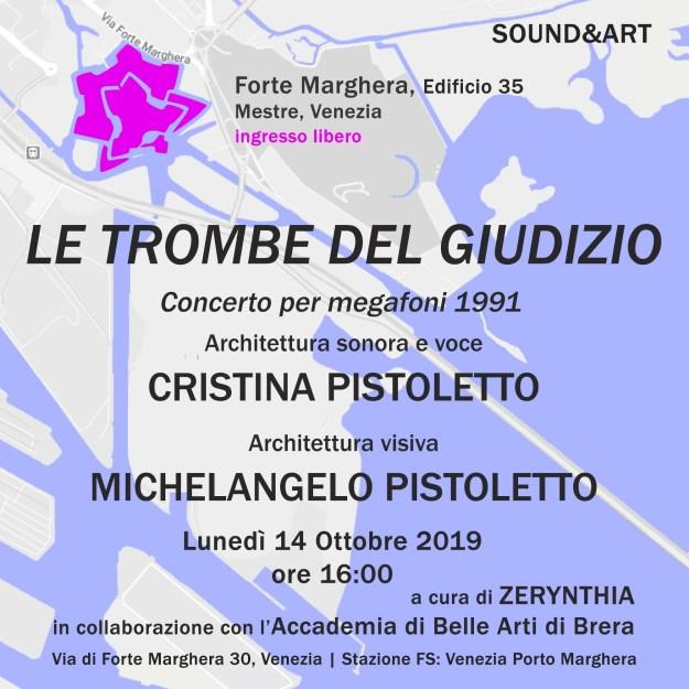 Invitation to Pistoletto Le trombe del giudizio