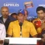 Capriles no reconoce la victoria de Maduro