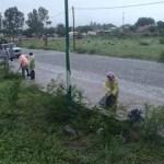 Limpiaron una margen del Río Chuscha