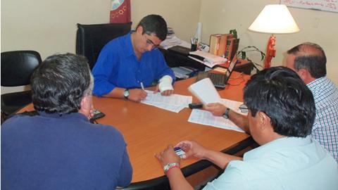 Las negociaciones se realizaron en la delegación Cafayate del  Ministerio de Trabajo