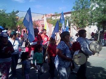 Los peregrinos de La Florida al llegar a la Catedral local