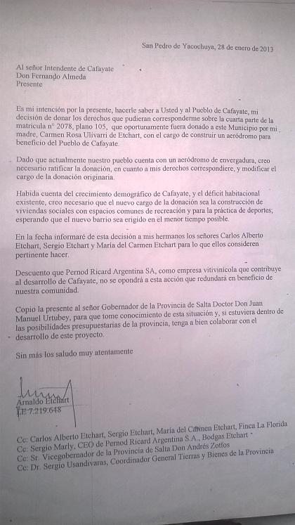 La nota completa de Arnaldo Etchart