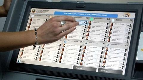 0 elecciones voto electronico