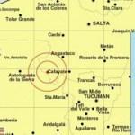 Hubo un fuerte temblor con epicentro en Cafayate