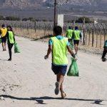 A través de la carrera Plogging se levantó basura en varias zonas de Cafayate