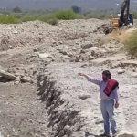 Funcionarios provinciales supervisaron la obra de encauce del Río Chuscha