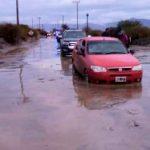 La intensa lluvia cortó la Ruta 40 en el Río San Antonio