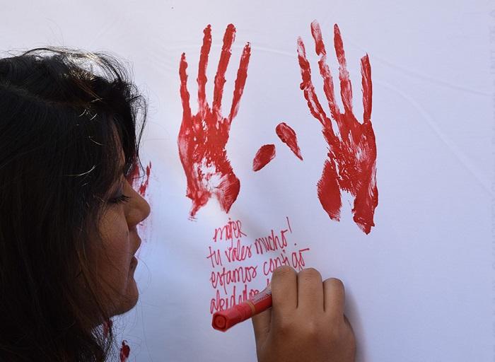 """Intervención urbana sobre violencia de género: """"Fue muy movilizador"""""""