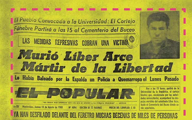 Los estudiantes marchan por Líber Arce en un nuevo 14 de agosto
