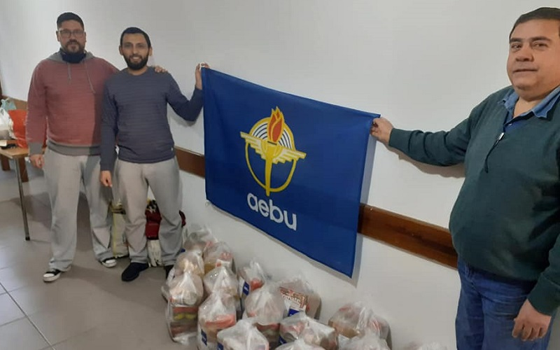 Seccional de AEBU en Rivera sigue en modo solidaridad y prepara nueva campaña