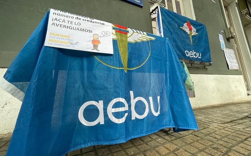 Intensa actividad de recolección de firmas en Seccional de AEBU en Las Piedras