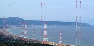 Antenes de Radio Liberty a la platja de Pals