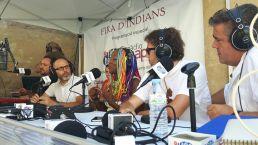 Fidel a la seva cita anual amb la fira, la cantant Lucrecia, també va passar pels micròfons de la ràdio