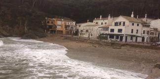 Sa Tuna de Begur durant el temporal del 22 de gener del 2017