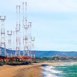 La Platja de Pals amb les antenes de Ràdio Liberty | Imatge d'arxiu