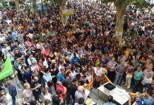 Sant Feliu de Guíxols manifestació 1 d'octubre