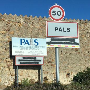 Entrada al municipi de Pals