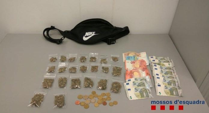 Materials confiscats a la banda de Palafrugell que venia marihuana | Imatge dels Mossos d'Esquadra