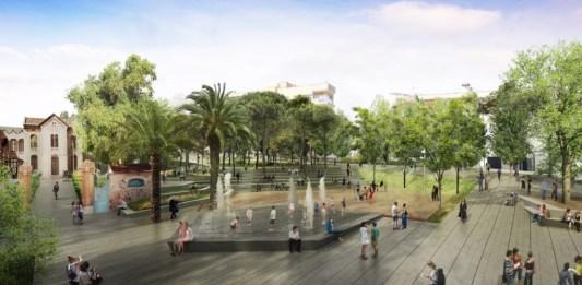 Imatge renderitzada del futur Parc Central de Sant Feliu de Guíxols   Imatge d'arxiu