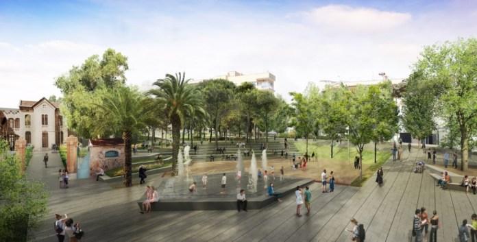 Imatge renderitzada del futur Parc Central de Sant Feliu de Guíxols | Imatge d'arxiu