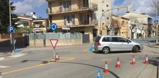 Prova pilot d'una rotona a l'avinguda Pompeu Fabra de Palafrugell   Imatge de l'Ajuntament