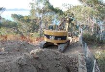 Obres a la Cala Port des Pi | Imatge de SOS Aiguafreda