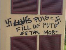 Lluís Puig amenaça mort pintada