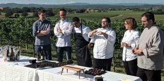 Presentació Damià Rafecas, Ivan Beumala, Jordi Vallespí, Joan Carles Sànchez, Iolanda Bustos i Jordi Ribas | Imatge de Quermany Gastronòmic