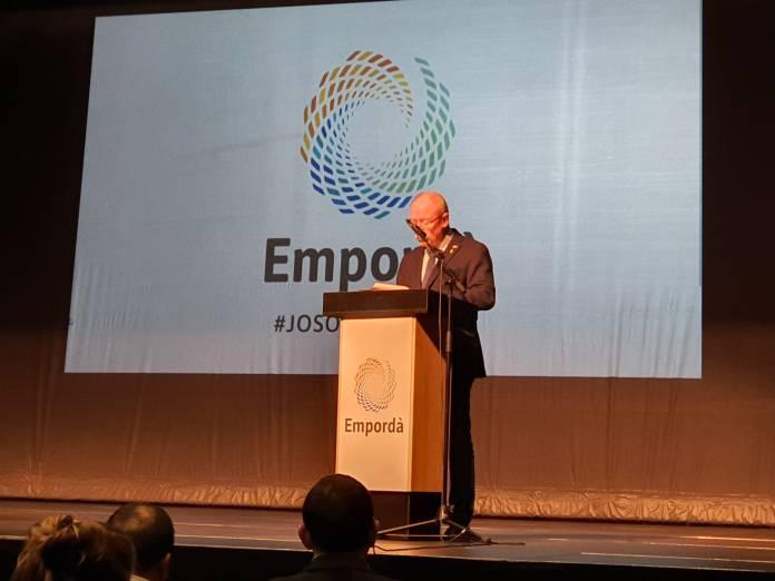 Joan Loureiro a la presentació de la campanya Jo Soc Empordà | Imatge de l'Ajuntament de Begur