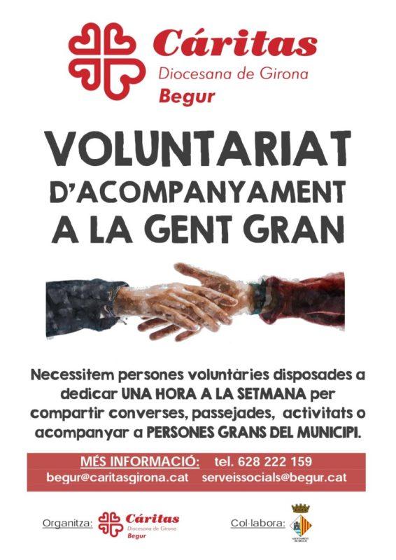 Càritas Begur impulsa un projecte per acompanyar les persones grans a Begur conjuntament amb el consistori del municipi
