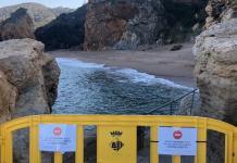 Accés a la platja d'Illa Roja de Begur tallat | Imatge de Ràdio Capital