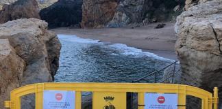 Accés a la platja d'Illa Roja de Begur tallat   Imatge de Ràdio Capital