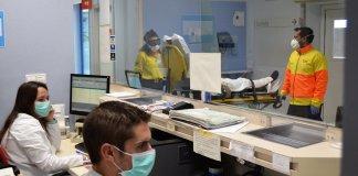 Recepció d'un hospital durant la pandèmia del coronavirus al Baix Empordà abans de la fase 1 del desconfinament