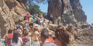 La Platja del Golfet plena de gent | Imatge de l'Ajuntament de Palafrugell