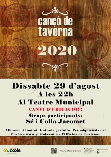 cartell taverna agost TEATRE 2020