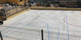 privat:-l'ajuntament-de-begur-renova-la-pista-poliesportiva-de-l'escola-publica-l'olivar-vell-d'esclanya