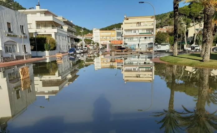 L'Estartit després del temporal d'aquest cap de setmana del 28 i 29 de Novembre 2020 | Imatge cedida a Ràdio Capital de l'Empordà