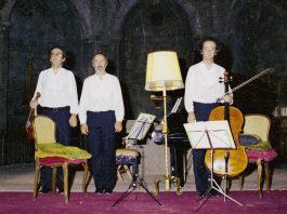 Concert Trio de Barcelona. Obra: Trio per a violí, violoncel i piano Op.57.- © JOSEP LLORET · Festival de Torroella 1982