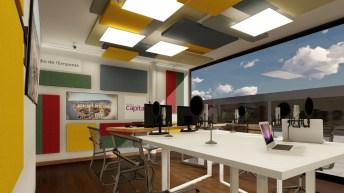Imatge virtual del nou estudi de Ràdio Capital