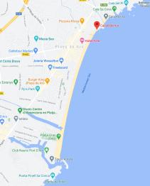 Mapa passeig marítim de platja d'aro