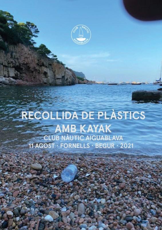 privat:-el-club-nautic-aiguablava-organitza-una-recollida-de-plastics-amb-kayak