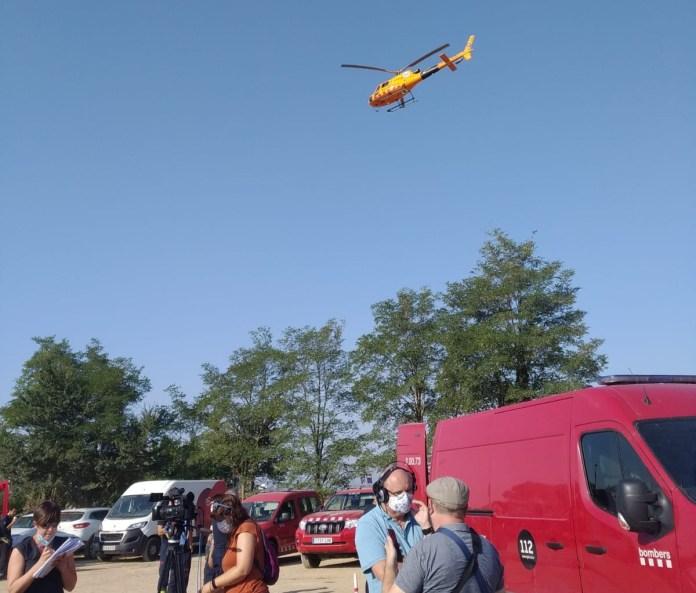 Helicopter durant l'incendi del massís del Montgrí - Ràdio Capital