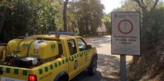 Prohibida l'entrada a Les Gavarres per alt risc d'incendi - Imatge d'ADF Gavarres