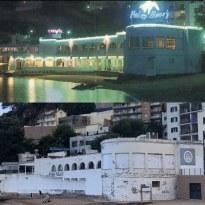 Palm Beach abans i ara // Foto de dalt: autor desconegut. Foto de baix: Anna Salvadó