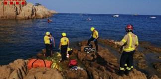 Rescat d'una noia a Sant Feliu - Imatge dels Bombers